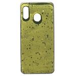 Чехол Yotrix GlitterFoil Case для Samsung Galaxy A30 (желтый, гелевый)