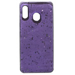 Чехол Yotrix GlitterFoil Case для Samsung Galaxy A30 (сиреневый, гелевый)