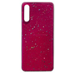 Чехол Yotrix GlitterFoil Case для Samsung Galaxy A50 (малиновый, гелевый)