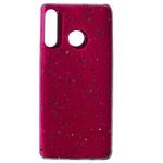 Чехол Yotrix GlitterFoil Case для Huawei P30 lite (малиновый, гелевый)