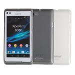 Чехол Jekod Soft case для Sony Xperia L S36h (белый, гелевый)