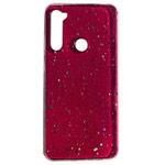 Чехол Yotrix GlitterFoil Case для Xiaomi Redmi Note 8 (малиновый, гелевый)