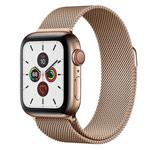 Ремешок для часов Yotrix Milanese Band для Apple Watch 38/40 мм (светло-золотистый, стальной)