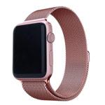 Ремешок для часов Yotrix Milanese Band для Apple Watch 38/40 мм (розовый, стальной)