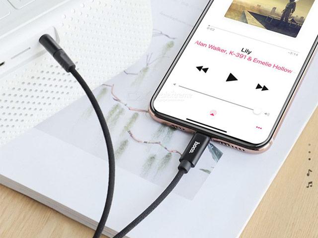 AUX-кабель Hoco Digital Audio Conversation Cable UPA13 (1 м, miniJack, Lightning, черный)