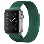 Ремешок для часов Yotrix Milanese Band для Apple Watch 38/40 мм (зеленый, стальной)