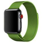 Ремешок для часов Yotrix Milanese Band для Apple Watch 42/44 мм (ярко-зеленый, стальной)