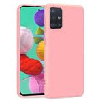 Чехол Yotrix LiquidSilicone для Samsung Galaxy A71 (розовый, гелевый)