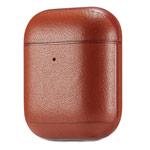 Чехол Synapse Leather Case для Apple AirPods 2 (коричневый, кожаный)