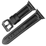Ремешок для часов Synapse Forceful Band для Apple Watch (44/42 мм, черный, кожаный)