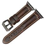 Ремешок для часов Synapse Forceful Band для Apple Watch (44/42 мм, темно-коричневый, кожаный)