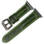 Ремешок для часов Synapse Forceful Band для Apple Watch (44/42 мм, темно-зеленый, кожаный)