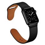 Ремешок для часов Synapse Prime Band для Apple Watch (44/42 мм, черный, кожаный)
