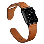 Ремешок для часов Synapse Prime Band для Apple Watch (44/42 мм, коричневый, кожаный)