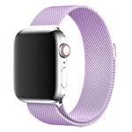 Ремешок для часов Yotrix Milanese Band для Apple Watch 38/40 мм (сиреневый, стальной)
