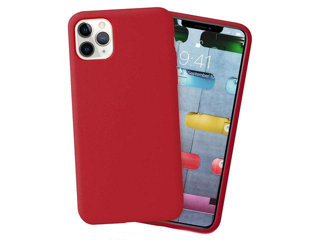 Чехол Yotrix LiquidSilicone для Apple iPhone 11 pro (темно-красный, гелевый)
