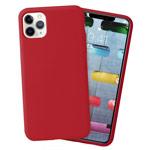 Чехол Yotrix LiquidSilicone для Apple iPhone 11 pro max (темно-красный, гелевый)