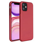 Чехол Yotrix LiquidSilicone для Apple iPhone 11 (темно-красный, гелевый)