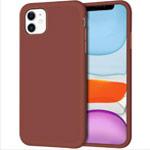 Чехол Yotrix LiquidSilicone для Apple iPhone 11 (коричневый, гелевый)