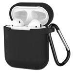 Чехол Yotrix Buckle Case для Apple AirPods (черный, силиконовый)