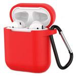 Чехол Yotrix Buckle Case для Apple AirPods (красный, силиконовый)
