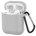 Чехол Yotrix Buckle Case для Apple AirPods (серый, силиконовый)