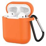 Чехол Yotrix Buckle Case для Apple AirPods (персиковый, силиконовый)