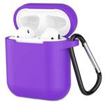 Чехол Yotrix Buckle Case для Apple AirPods (фиолетовый, силиконовый)