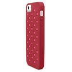 Чехол X-doria Spots Case для Apple iPhone 5/5S (красный, силиконовый)