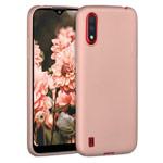 Чехол Yotrix LiquidSilicone для Samsung Galaxy A01 (светло-розовый, гелевый)