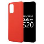 Чехол Yotrix LiquidSilicone для Samsung Galaxy S20 plus (красный, гелевый)