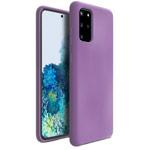 Чехол Yotrix LiquidSilicone для Samsung Galaxy S20 plus (сиреневый, гелевый)
