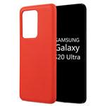 Чехол Yotrix LiquidSilicone для Samsung Galaxy S20 ultra (красный, гелевый)