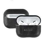 Чехол G-Case Monte Carlo Series для Apple AirPods pro (Black Croco, кожаный)