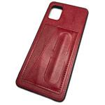 Чехол Yotrix SnapCase Holder для Samsung Galaxy A41 (красный, экокожа)