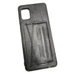 Чехол Yotrix SnapCase Holder для Samsung Galaxy A41 (черный, экокожа)