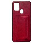 Чехол Yotrix SnapCase Holder для Samsung Galaxy A21s (красный, экокожа)