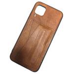 Чехол Yotrix SnapCase Holder для Huawei P40 lite (коричневый, экокожа)