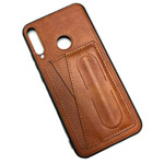 Чехол Yotrix SnapCase Holder для Huawei P40 lite E (коричневый, экокожа)