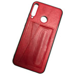 Чехол Yotrix SnapCase Holder для Huawei P40 lite E (красный, экокожа)