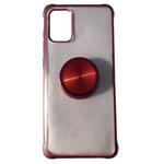 Чехол Yotrix GlitterSoft Pop для Samsung Galaxy A71 (красный, гелевый)