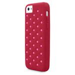 Чехол X-doria Spots Case для Apple iPhone 5C (красный, силиконовый)