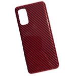 Чехол Yotrix Carbon Acrylic для Samsung Galaxy S20 plus (красный, композитный)