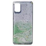 Чехол Yotrix GlitterFoil Case для Samsung Galaxy A41 (зеленый, гелевый)