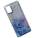 Чехол Yotrix GlitterFoil Case для Samsung Galaxy A41 (розовый, гелевый)