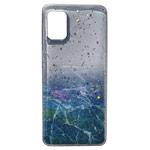 Чехол Yotrix GlitterFoil Case для Samsung Galaxy A41 (синий, гелевый)