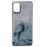 Чехол Yotrix GlitterFoil Case для Samsung Galaxy A41 (голубой, гелевый)