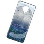 Чехол Yotrix GlitterFoil Case для Xiaomi Redmi Note 9 pro (синий, гелевый)
