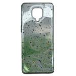Чехол Yotrix GlitterFoil Case для Xiaomi Redmi Note 9S (зеленый, гелевый)