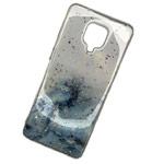 Чехол Yotrix GlitterFoil Case для Xiaomi Redmi Note 9S (голубой, гелевый)